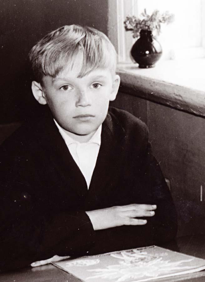 Subates astoņgadīgās skolas 2. klases skolnieks Aivars, 1970. gads