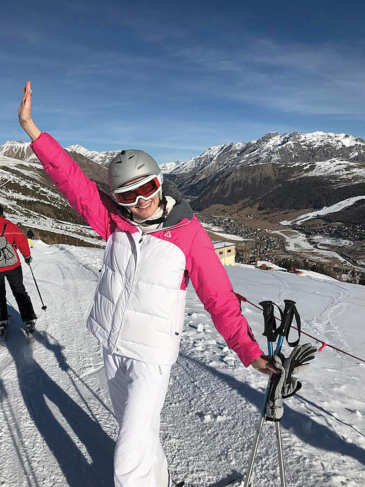 Lai sakārtotu domas,  Agnese dodas uz kalniem,  viņa ir slēpošanas baudītāja!