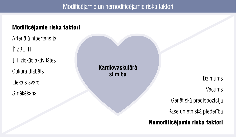 Modificējamie un nemodificējamie riska faktori