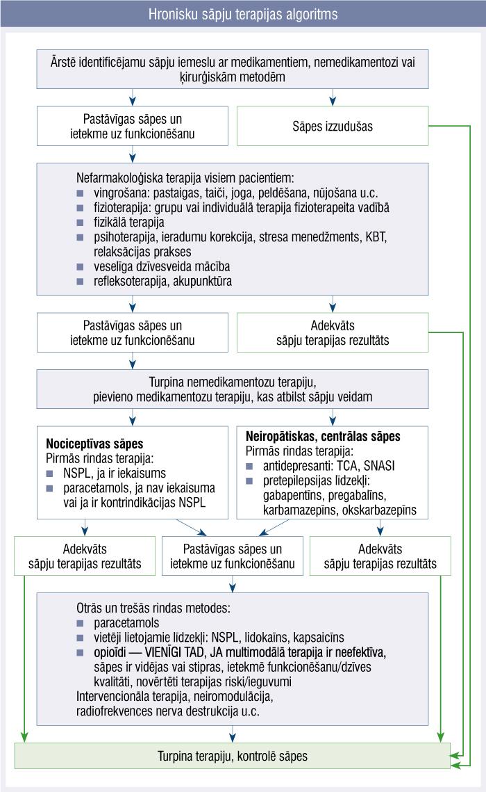 Hronisku sāpju terapijas algoritms