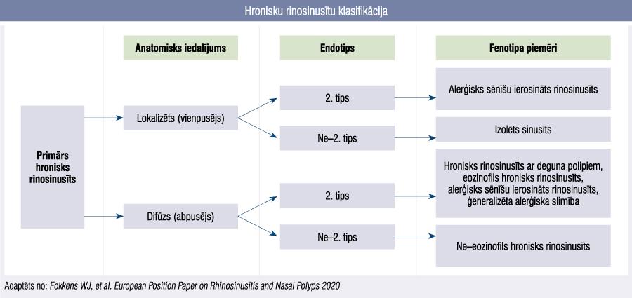 Hronisku rinosinusītu klasifikācija